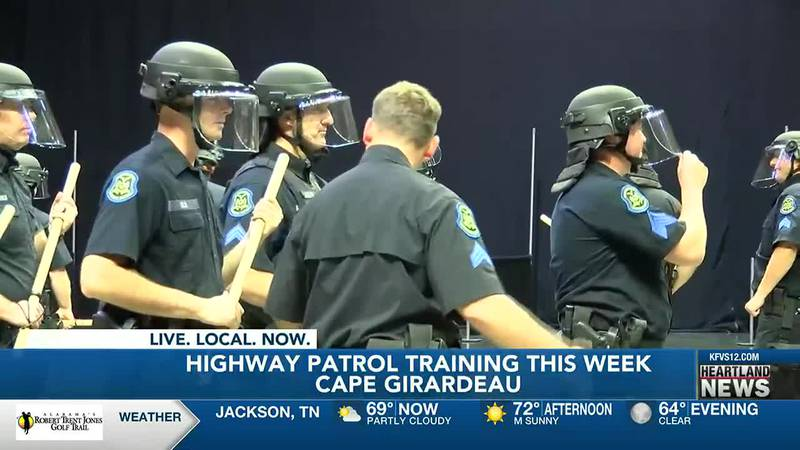 The Missouri State Highway Patrol is training at the Show Me Center.