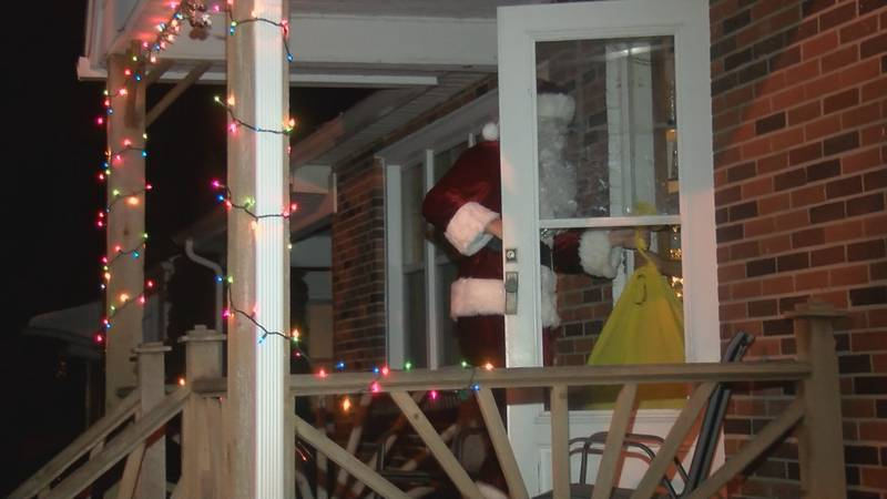 Santa and his helpers took Toy Box 'sleighs' around Cape Girardeau Thursday Dec. 19 to make...