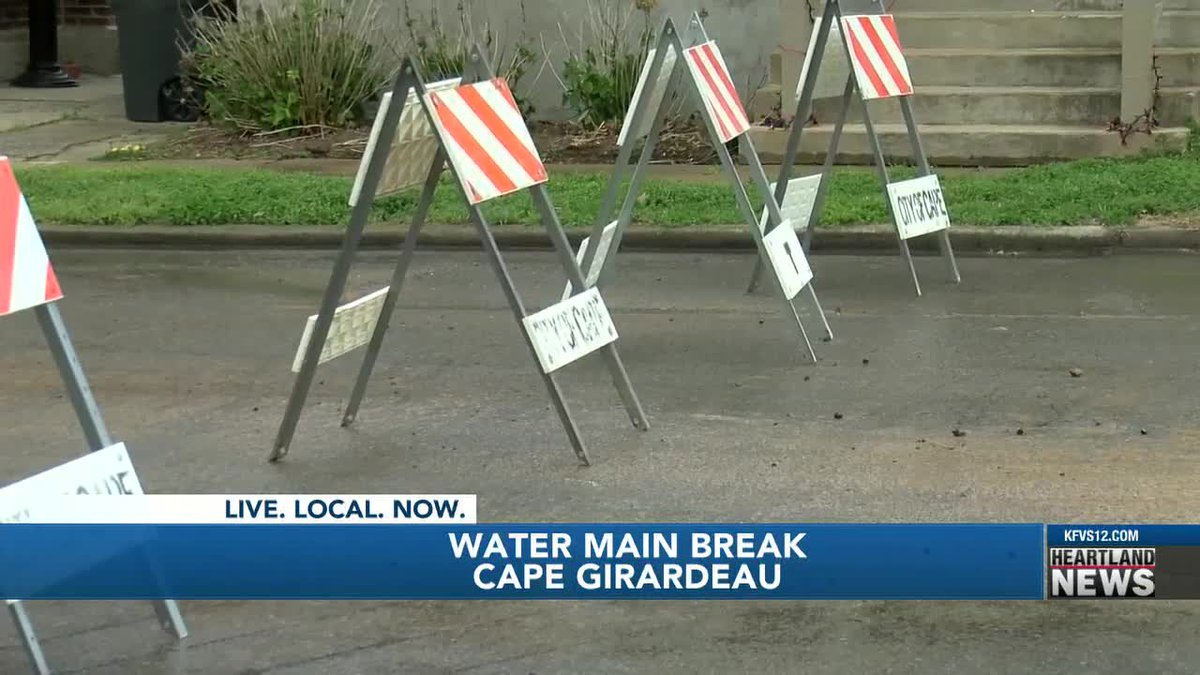 Major water main breaks in Cape Girardeau