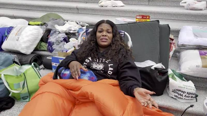 Freshman Congresswoman Cori Bush, of Missouri, organized an around-the-clock sit-in to protest...
