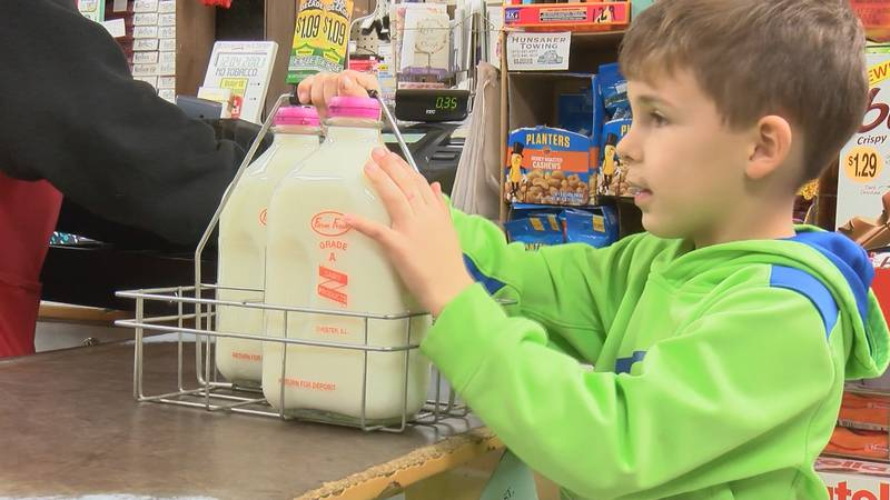 Heartland customers are buying up glass bottles of 'Farm Fresh' milk. The supplier, Chester...