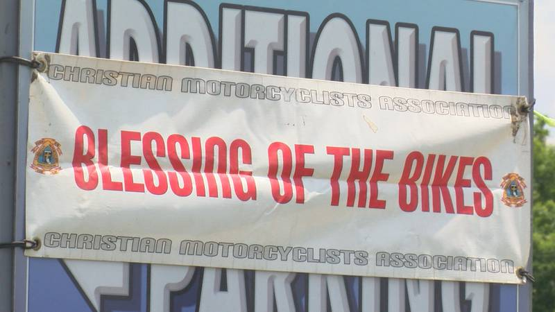 """Bikers from all over the Heartland made their way to Bald Knob in Alto Pass for the """"Blessing..."""