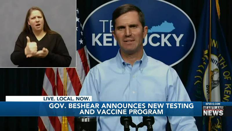 Governor Andy Beshear announced new testing and vaccine programs in Kentucky.