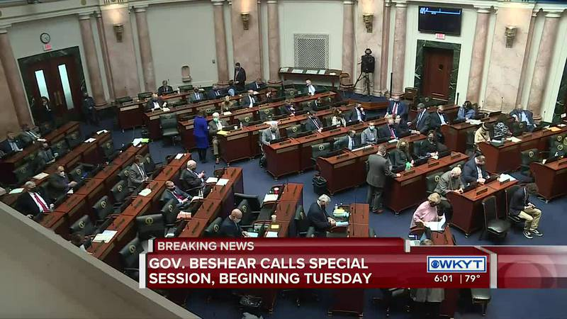 Governor Beshear calls Kentucky General Assembly into special session