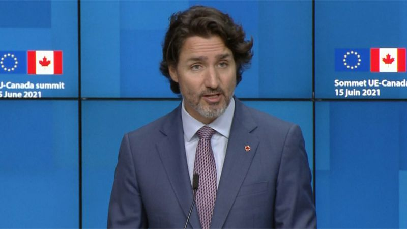 Canadian Prime Minister Justin Trudeau said it's still not the right time to open the border.