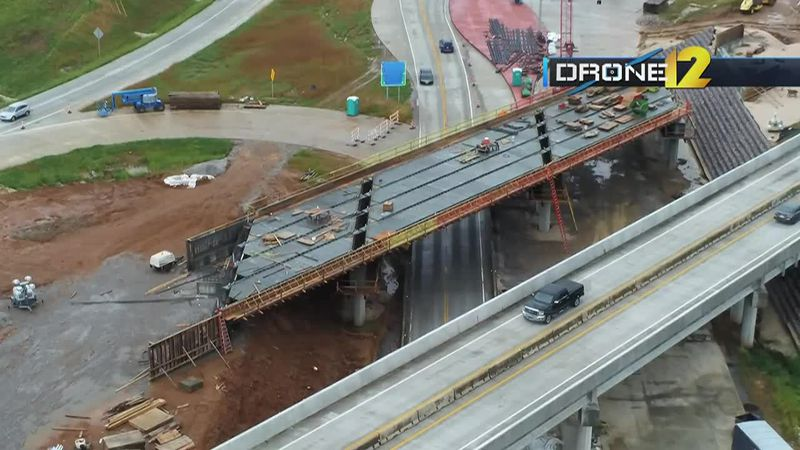 A look at the diverging diamond project at Center Junction on Wednesday, June 2.