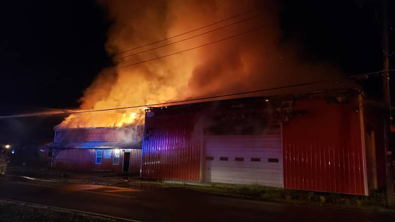 Multiple fire crews responded to a fire at Pete Tanner's Solid Waste in Delta, Mo. early...