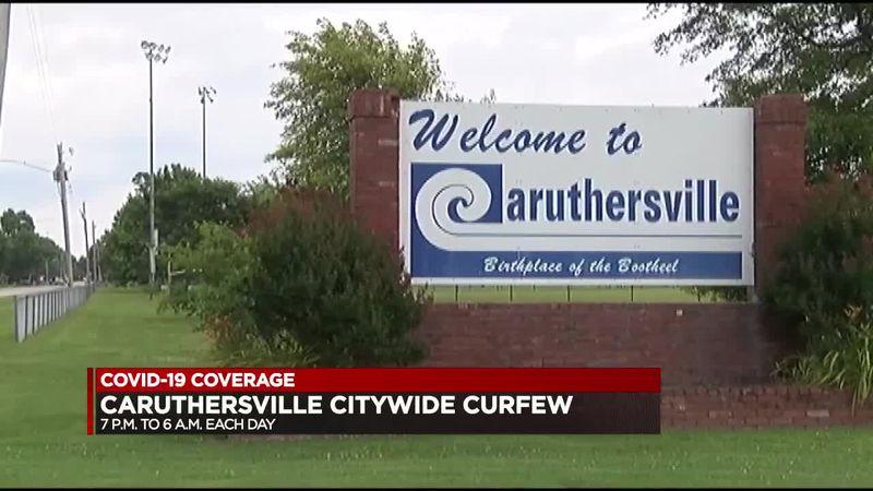 Caruthersville citywide curfew - Missouri COVID-19 update 3/27