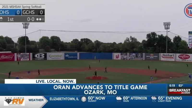 Oran Baseball advances to Class 1 State Championship game