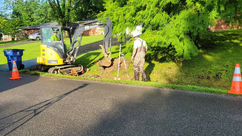 Crews are working to repair a water main break on Singing Hills Drive in Cape Girardeau. ...