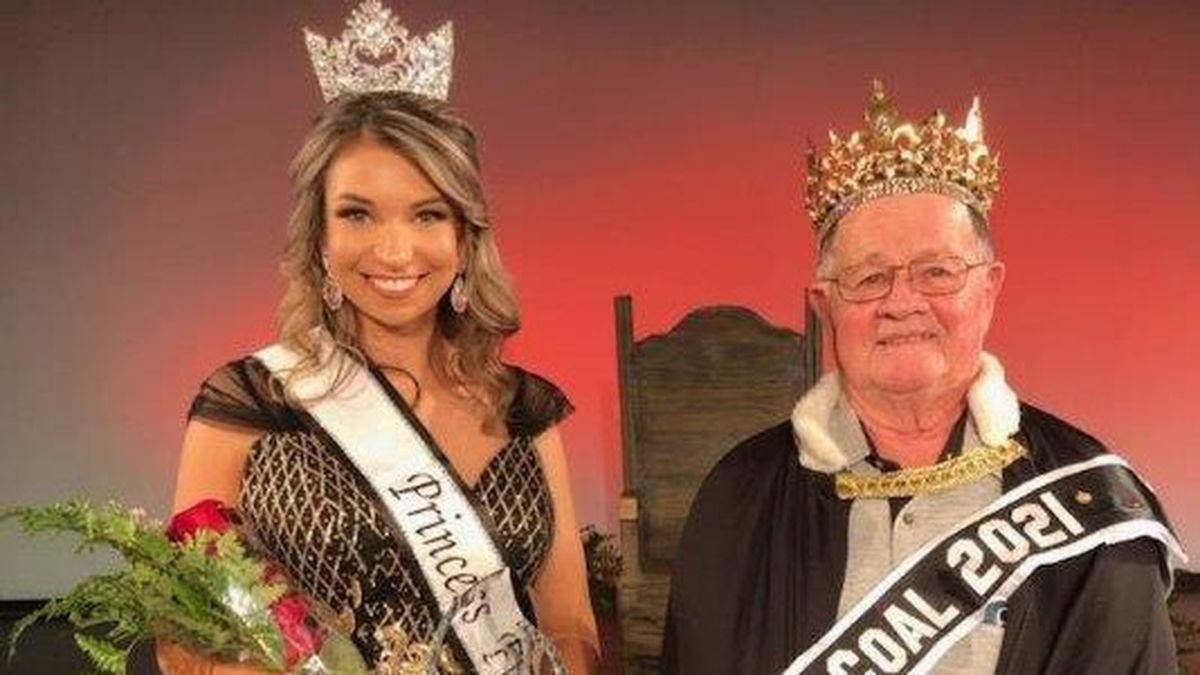 Old King Coal Jerry Harkins of West Frankfort and Princess Flame Julia Mohr will reign over the...