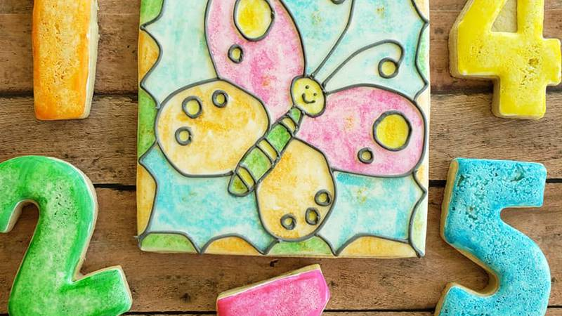 Michelle Chesser is designing do-it-yourself cookie decorating kits and paint your own cookies.
