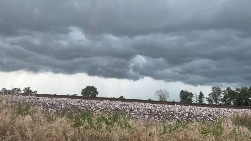 Skies are cloudy in Tamaroa, Ill.