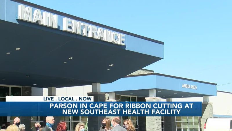Gov. Parson attends ribbon cutting for new Southeast Behavioral Hospital in Cape Girardeau