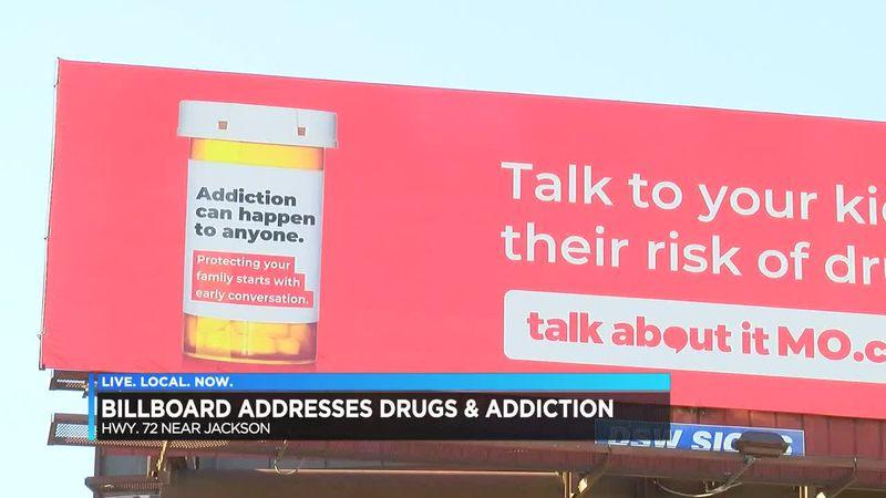 Billboard addresses drugs and addiction
