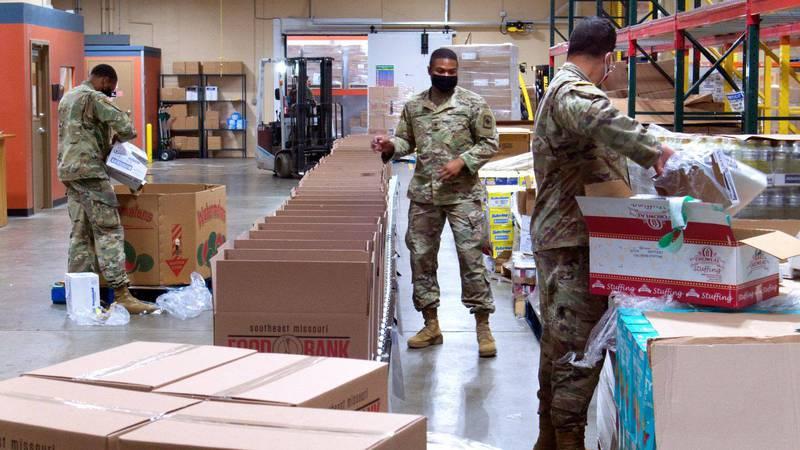National Guard helping Semo Food bank