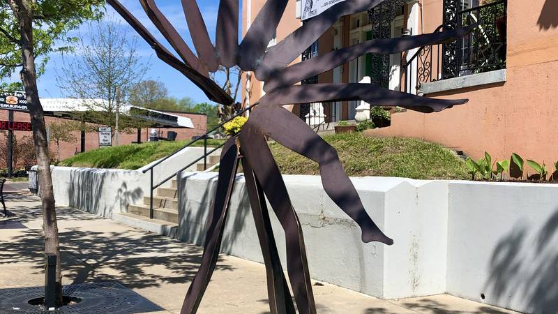 """""""Bliss"""" is one of seven sculptures in place along Broadway in Cape Girardeau, Mo."""