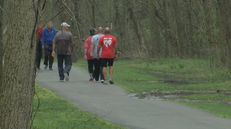 People are urged to use social distancing at parks and trails.