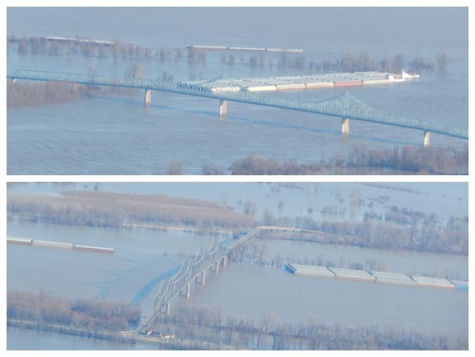 """The """"Cairo"""" Bridge remains closed on Tuesday, Jan. 5. (Source: MoDOT)"""
