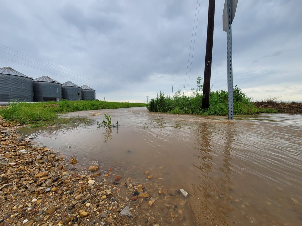 Flash flooding made County Road 667, off of Highway ZZ in Stoddard County, impassible on...