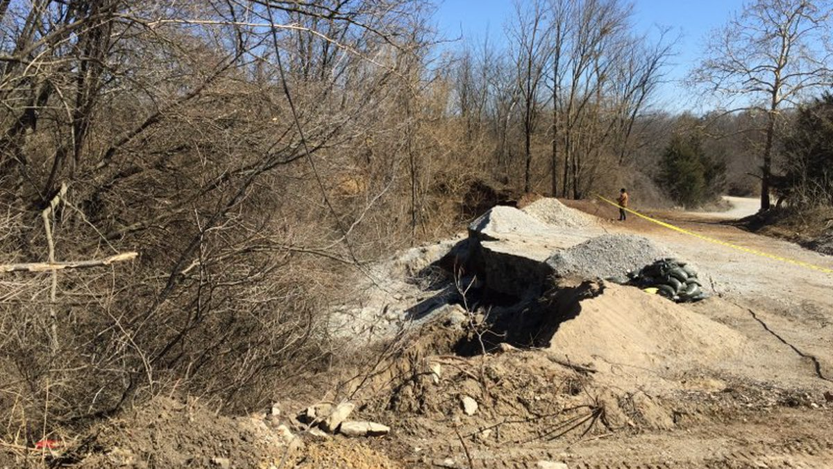 A sinkhole opened up at the Louisville Zoo on Wednesday.