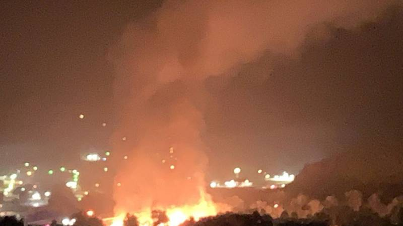Multiple crews from all over Missouri were called in to battle what appears to be a massive...