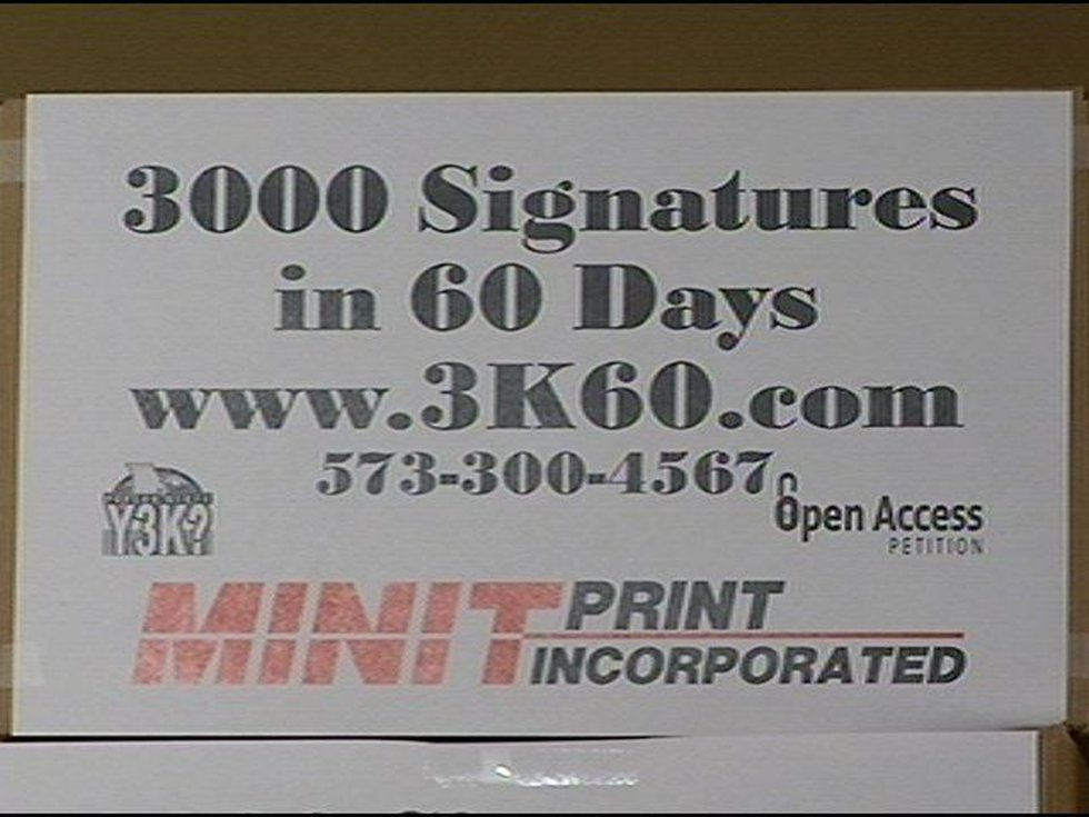 The petition drive is called 3K60.