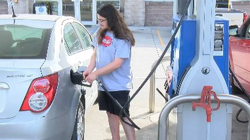 The fuel tax in Missouri will increase 2.5 cents per gallon on October 1.