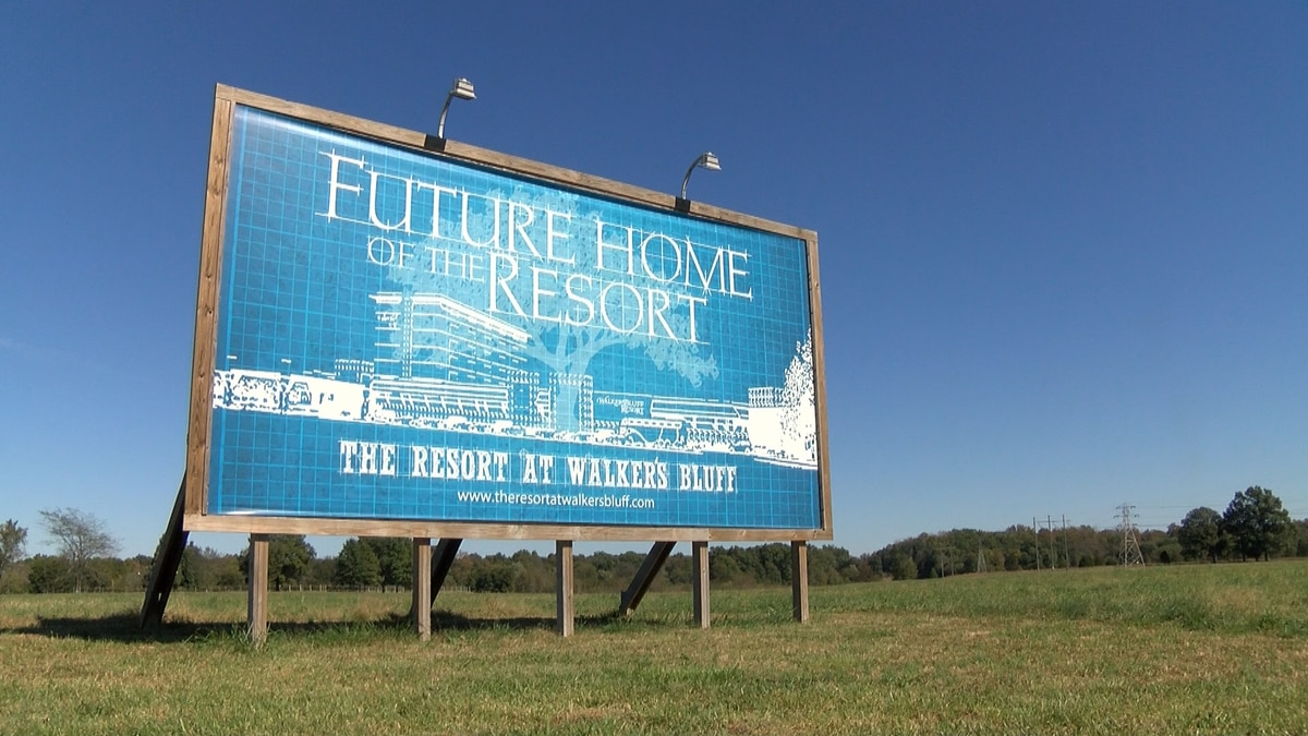 The site for new casino resort at Walker's Bluff
