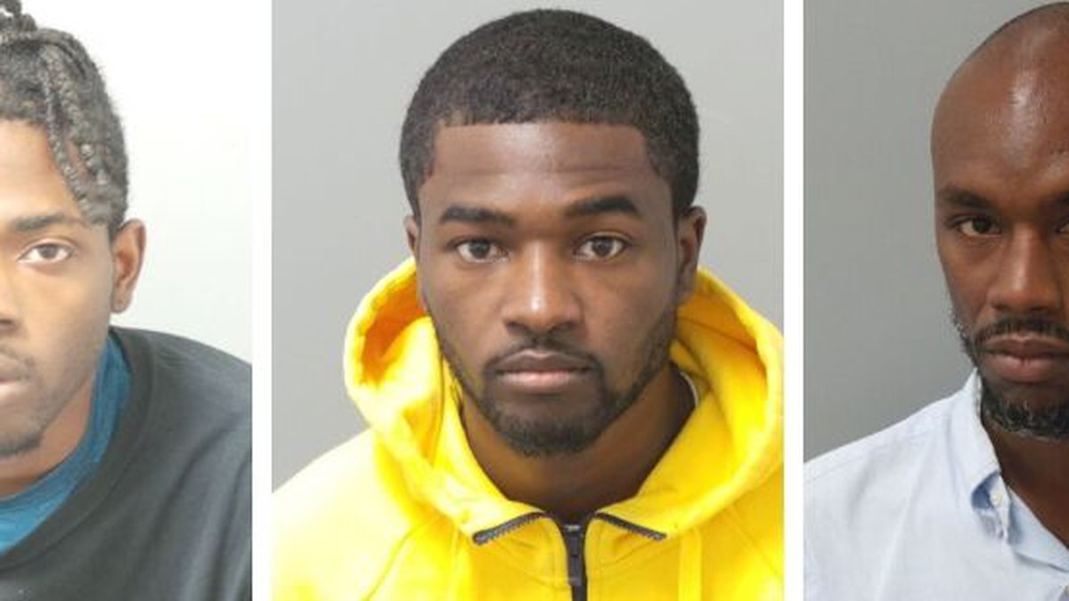 From left: Stephan Cannon, Jimmie Robinson and Samuel Simpson were arrested in the...