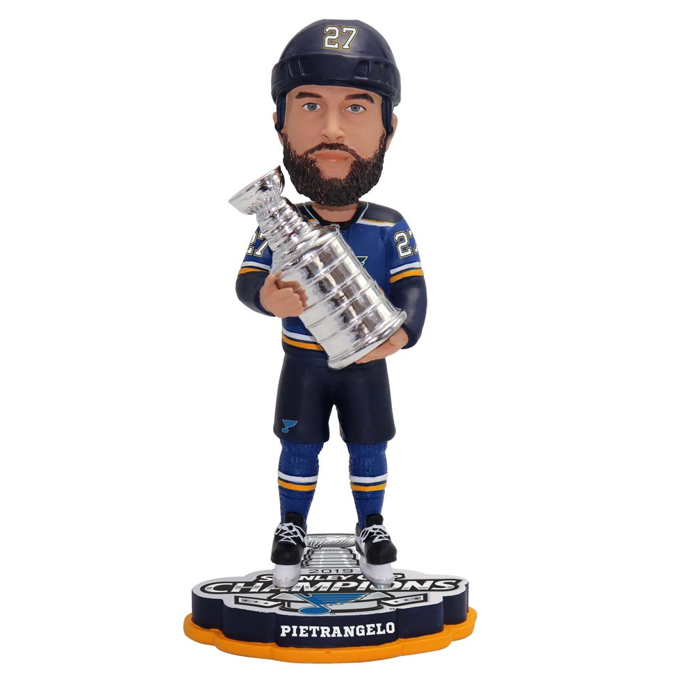 This is the first time the Blues will be honored with official bobbleheads.